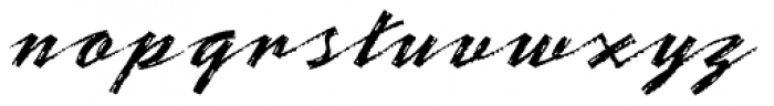 Bronx Std Font LOWERCASE