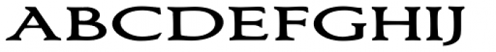 Bronzetti Small Capitals Expanded Font LOWERCASE