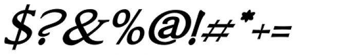Bronzino Oblique Font OTHER CHARS