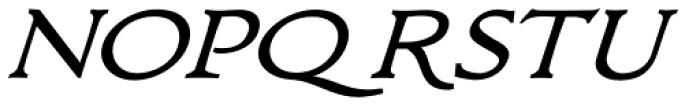 Bronzino Oblique Font UPPERCASE