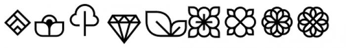 Brooklyn Heritage Design Elements Regular Font LOWERCASE