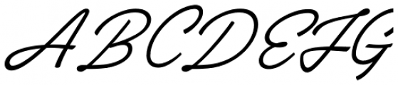 Brooklyn Heritage Script Font UPPERCASE