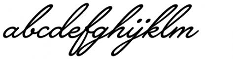 Brooklyn Heritage Script Font LOWERCASE