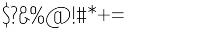 Brooklyn Samuels Three Thin Font OTHER CHARS