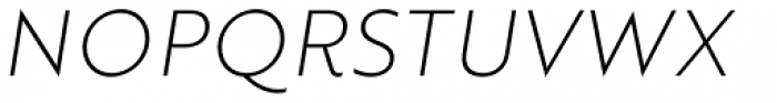 Brother 1816 Thin Italic Font UPPERCASE