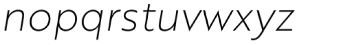 Brother 1816 Thin Italic Font LOWERCASE