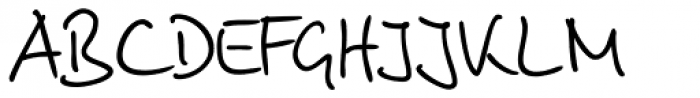 Brouet Handwriting Font UPPERCASE