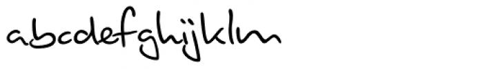 Brouet Handwriting Font LOWERCASE