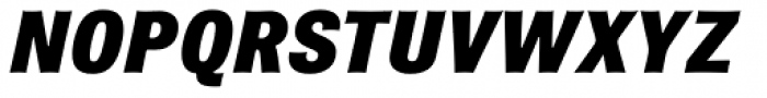 Brown Pro Black Italic Font UPPERCASE