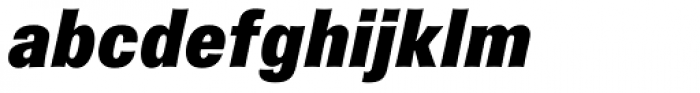 Brown Pro Black Italic Font LOWERCASE