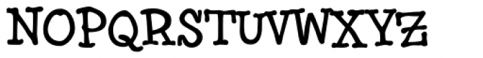 Brownhand Font UPPERCASE