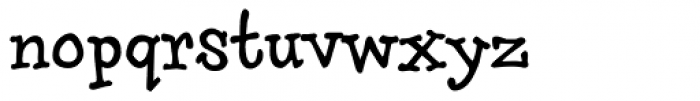 Brownhand Font LOWERCASE