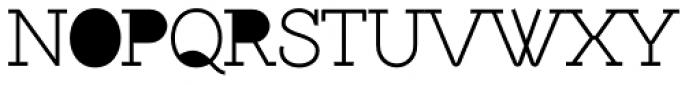 Brownstone Slab Hole Font UPPERCASE