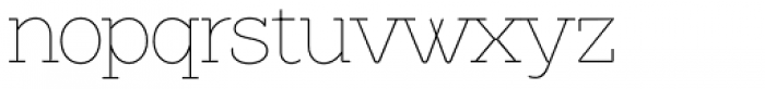 Brownstone Slab Thin Font LOWERCASE