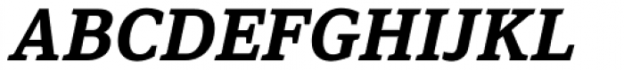 Browser Serif Bold Italic Font UPPERCASE