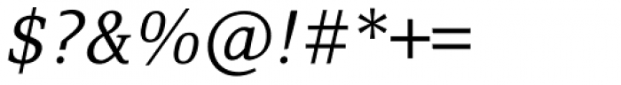 Browser Serif Italic Font OTHER CHARS