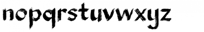 Broxa Font LOWERCASE