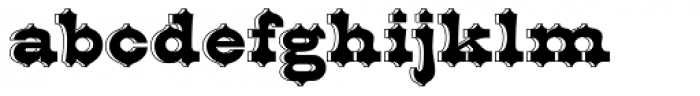 Bruce Belgina NF Font LOWERCASE