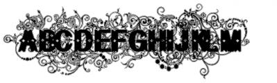 Bruce Flourished Lined Font LOWERCASE
