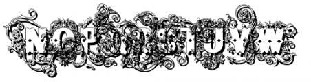 Bruce Flourished Shadow Font LOWERCASE