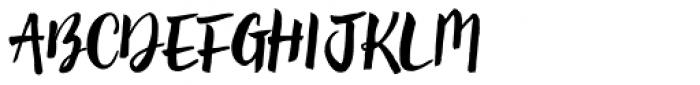 Brun Clean Font UPPERCASE