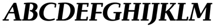 Brunch Pro Black Italic Font UPPERCASE