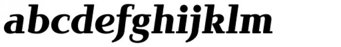 Brunch Pro Black Italic Font LOWERCASE