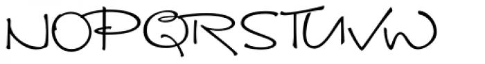 Brunette Font UPPERCASE