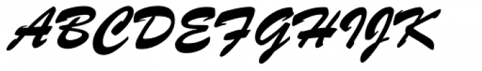 Brush ATF Bold Font UPPERCASE