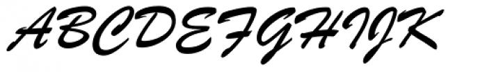 Brush ATF Book Font UPPERCASE