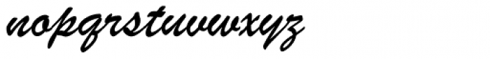 Brush ATF Book Font LOWERCASE