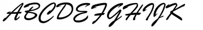 Brush ATF Light Font UPPERCASE