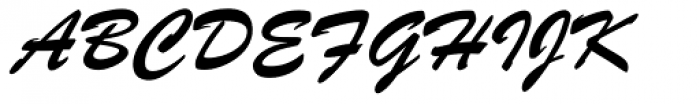 Brush ATF Font UPPERCASE