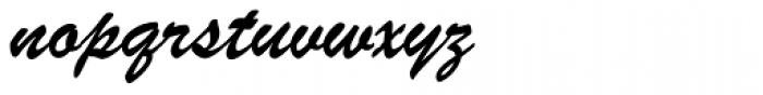 Brush ATF Font LOWERCASE