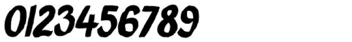 Brush Crush Italic Font OTHER CHARS