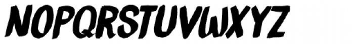 Brush Crush Italic Font LOWERCASE