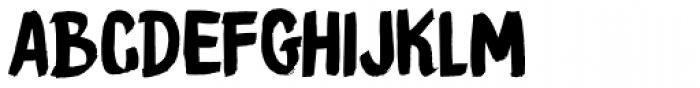 Brush Crush Font UPPERCASE
