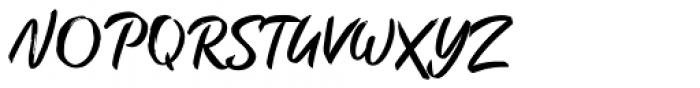 Brush Marker Font UPPERCASE