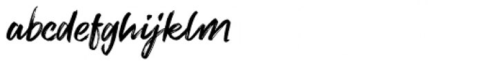 Brush Marker Font LOWERCASE