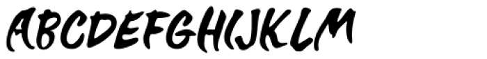 Brush Off Oblique JNL Font UPPERCASE