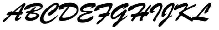 Brush Script D Font UPPERCASE