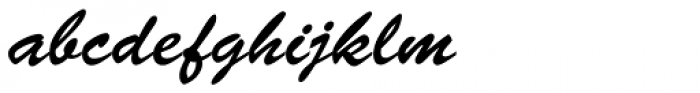 Brush Script D Font LOWERCASE