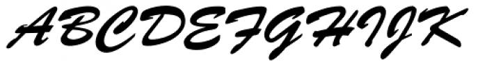 Brush Script Std Font UPPERCASE