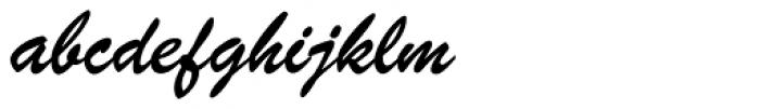 Brush Script Font LOWERCASE