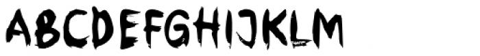 Brush Stroke Font UPPERCASE