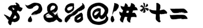 Brush Type Italic Font OTHER CHARS