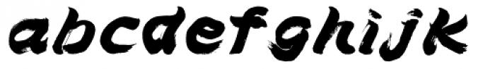 Brush Type Italic Font LOWERCASE