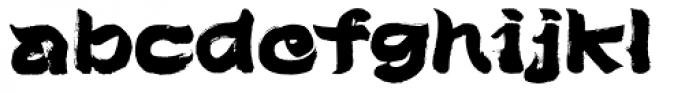 Brush Type Michiko Font LOWERCASE