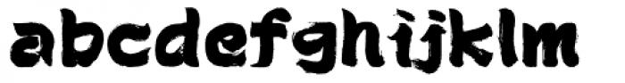 Brush Type Standard Font LOWERCASE