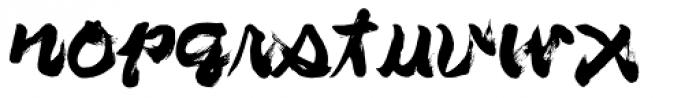 BrushType Longhand Font LOWERCASE